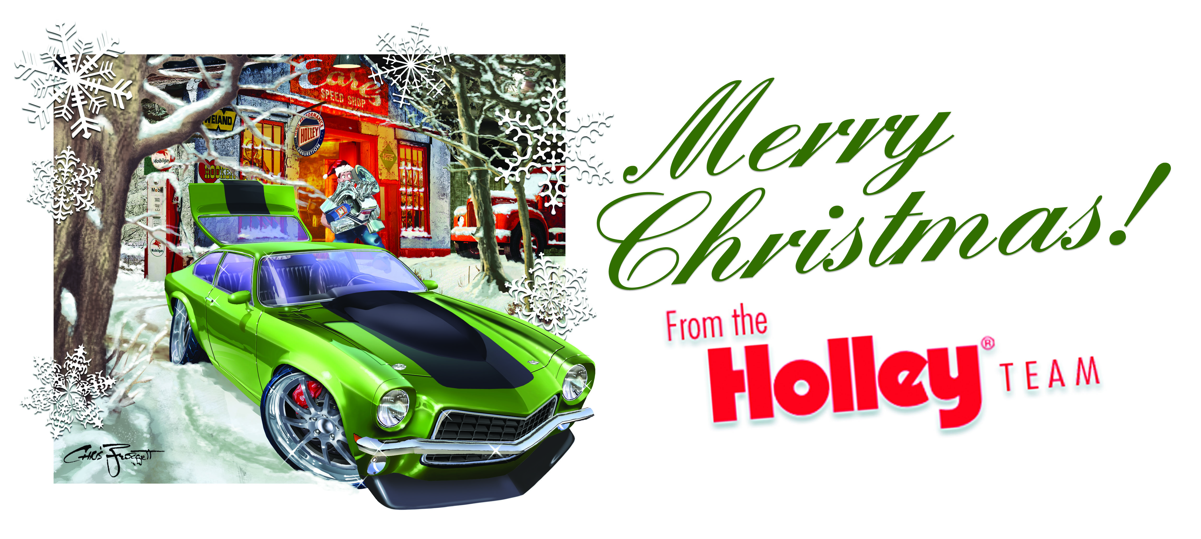 Bangshift Com Cool Christmas Car Art And More Holley And Chris